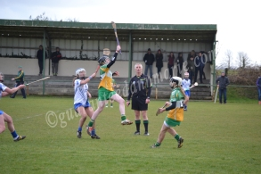 Grainne Dolan leaps to the air for the ball