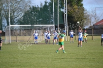 Roisin Egan hits a placed ball