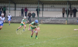 Roisin Egan rises the ball