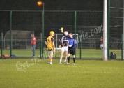 Aaron O'Brien (ITC) and Peter Hogan (DCU) receive yellows