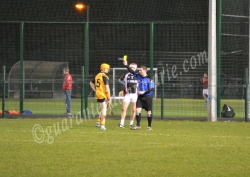 Aaron O'Brien (ITC) and Peter Hogan (DCU) receive yellows