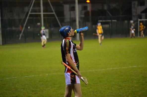 Liam O Grady re-hydrating during the game