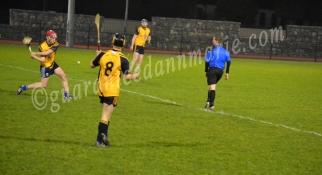 James McMahon (DCU) strikes towards goals