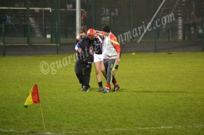Emmet Jones is forced off with injury