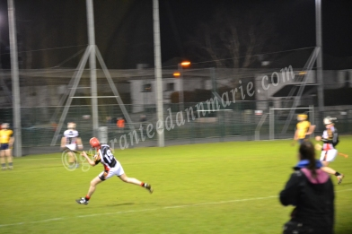 Chris Buckley strikes at the posts