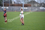 Roise Phelan looks for teammate from a free