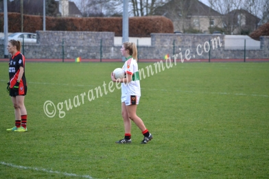 Roise Phelan prepars to kick a free