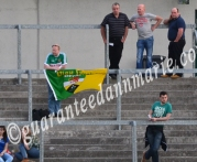 An Offaly supporter at the game