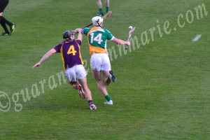 Emmet Nolan pushes Off Wexford tackling
