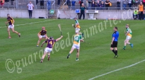 Emmet Nolan Offaly gets in a strike