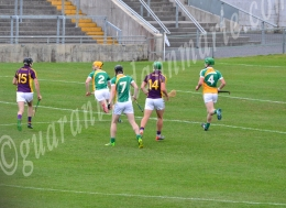 Stephen Corbett comes out of defense a ball