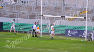 Dejected Offaly players after Wexford score their second goal