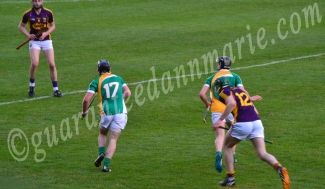 Shane Guinan Offaly looks ahead as he travels with the ball