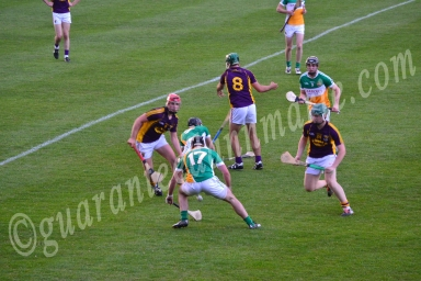 Shane Guinan Offaly wins the ball from a schuffle